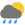 Cielos nubosos con lluvia moderada